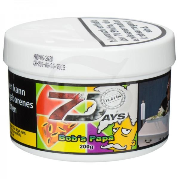 7 Days Platin Tabak - Bobs Papa 200 g
