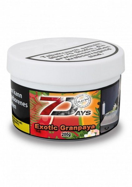 7 Days Platin Tabak - Exotic Granpaya 200 g