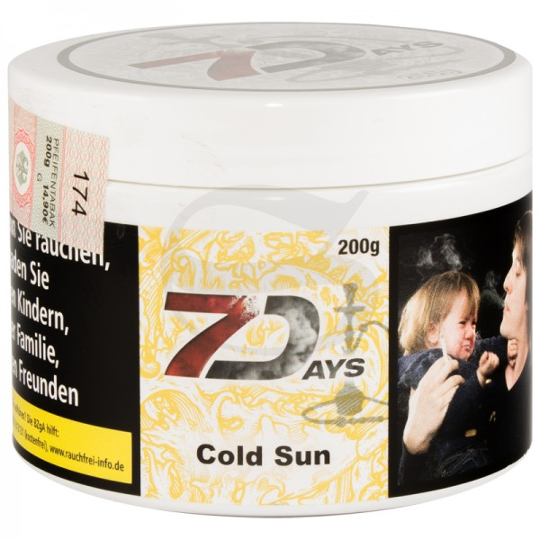 7 Days Tabak - Cold Sun 200 g