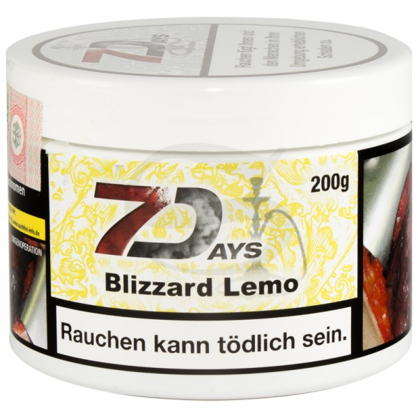 7 Days Tabak - Blizzard Lemo 200 g