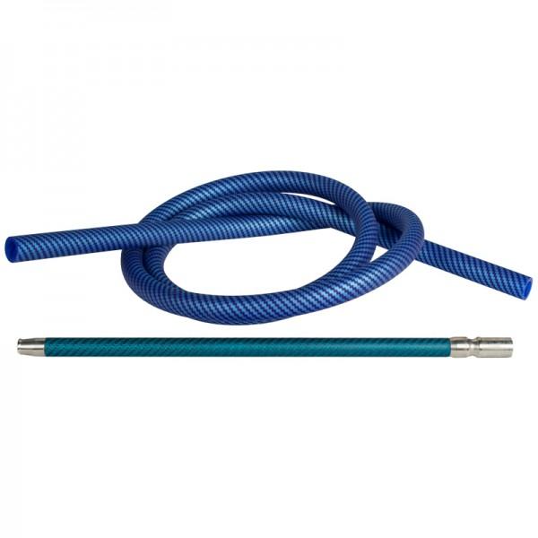 Silikonschlauch Set - Carbon Blau