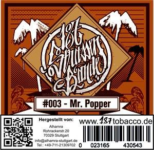 187 Strassenbande Tabak Mr. Popper 200 g
