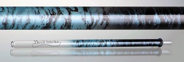 Devil Smoke Mundstück - Crossed Double Snake Perlmutt blau/schwarz