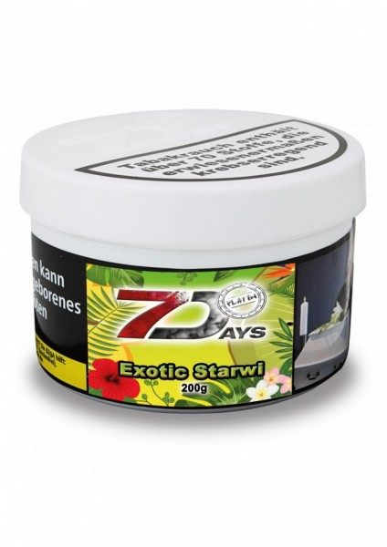 7 Days Platin Tabak - Exotic Starwi 200 g